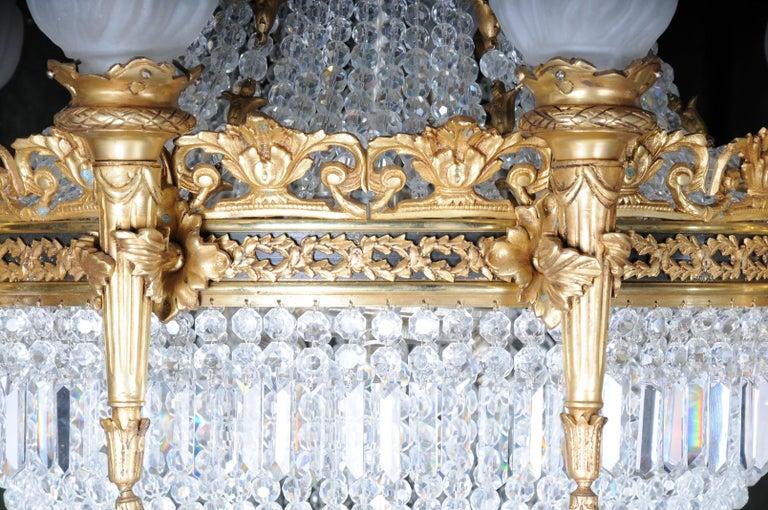 Splendid Classicist Ceiling Candelabra/Chandelier Empire Style For Sale 1