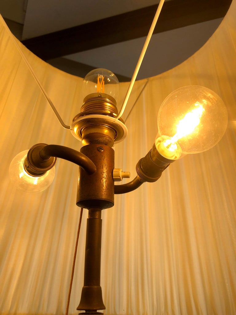 Splendid Floor Lamp Murano Etched Glass, 1950 For Sale 6