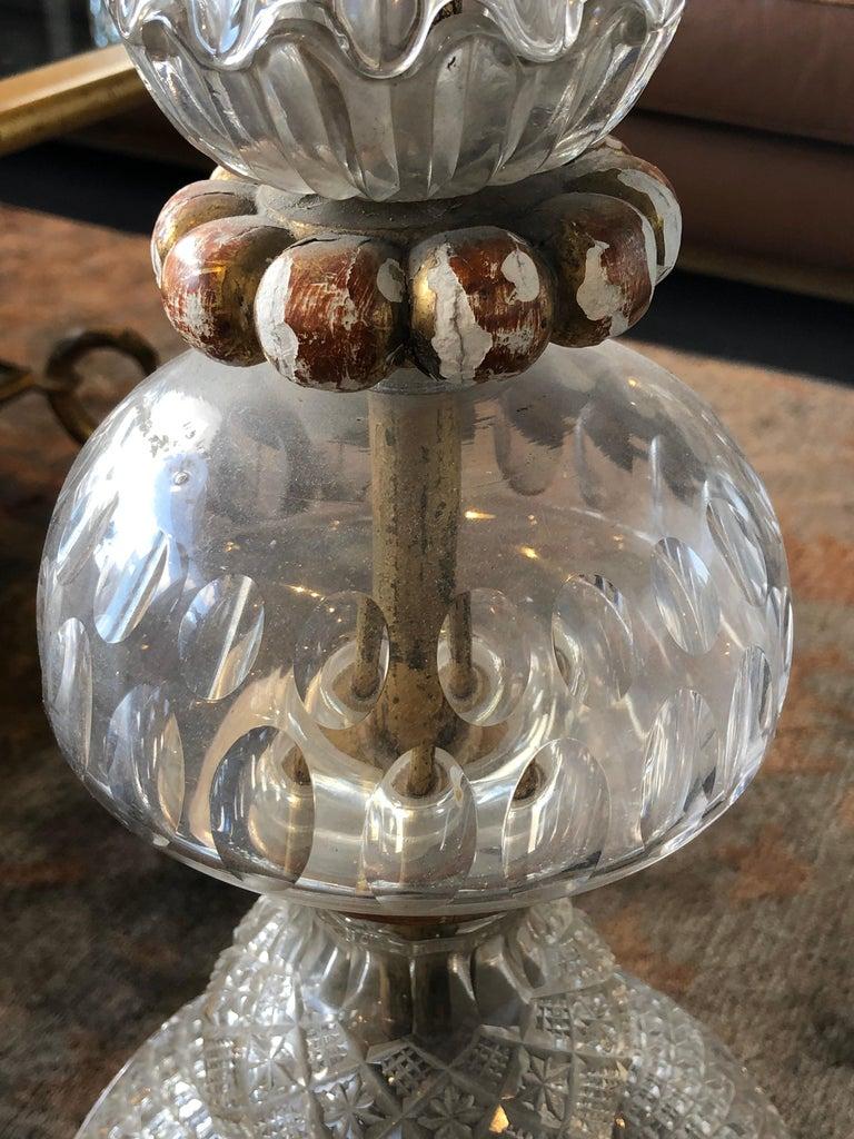 Murano Glass Splendid Floor Lamp Murano Etched Glass, 1950 For Sale