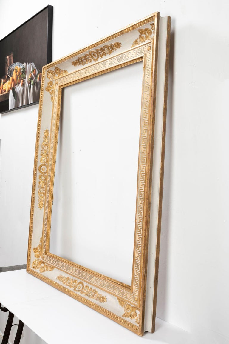 Splendid French Empire Carved Giltwood Frame or Mirror France Early 19th Century For Sale 5