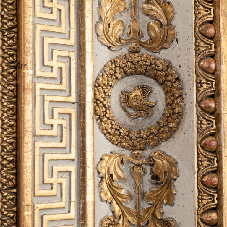 Splendid French Empire Carved Giltwood Frame or Mirror France Early 19th Century For Sale 7