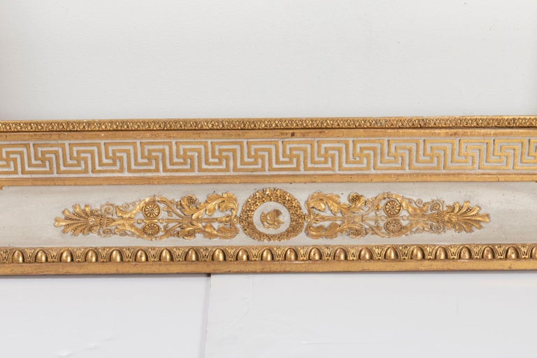 Stucco Splendid French Empire Carved Giltwood Frame or Mirror France Early 19th Century For Sale