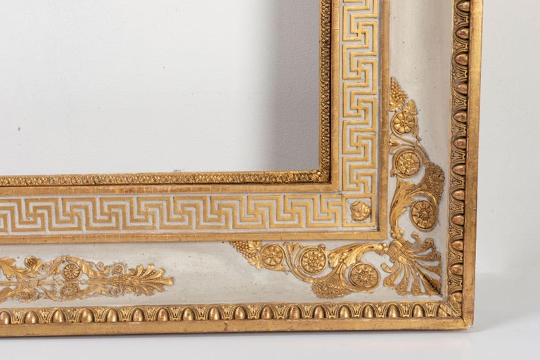 Splendid French Empire Carved Giltwood Frame or Mirror France Early 19th Century For Sale 1