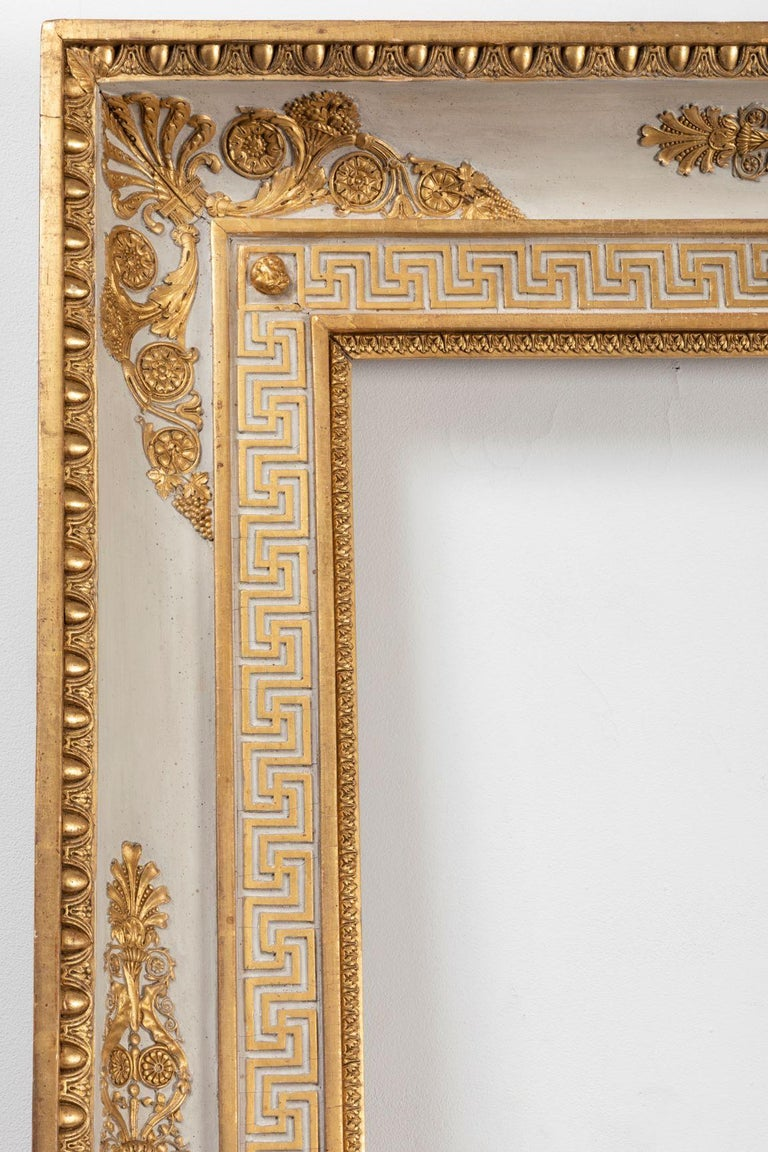 Splendid French Empire Carved Giltwood Frame or Mirror France Early 19th Century For Sale 2