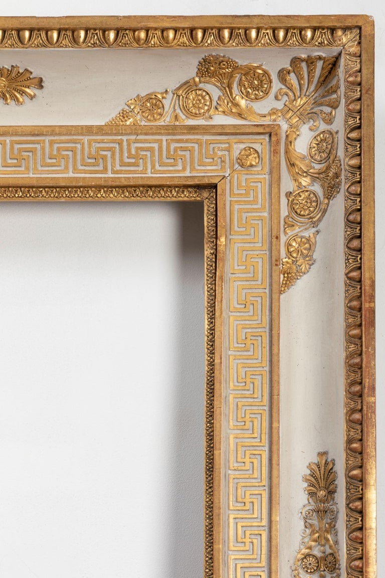 Splendid French Empire Carved Giltwood Frame or Mirror France Early 19th Century For Sale 3