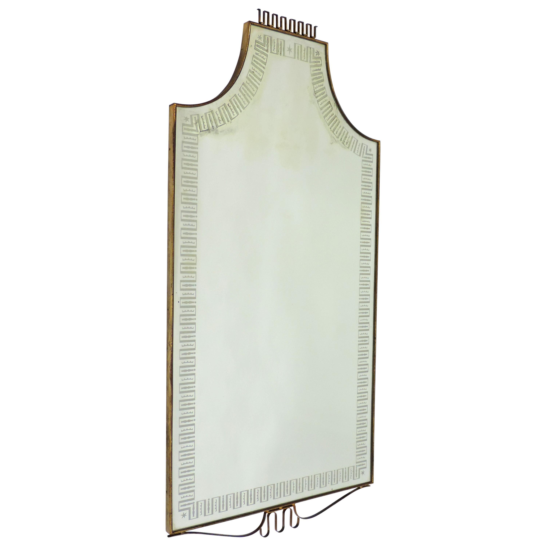 Splendid Italian 1940s Wall Mirror
