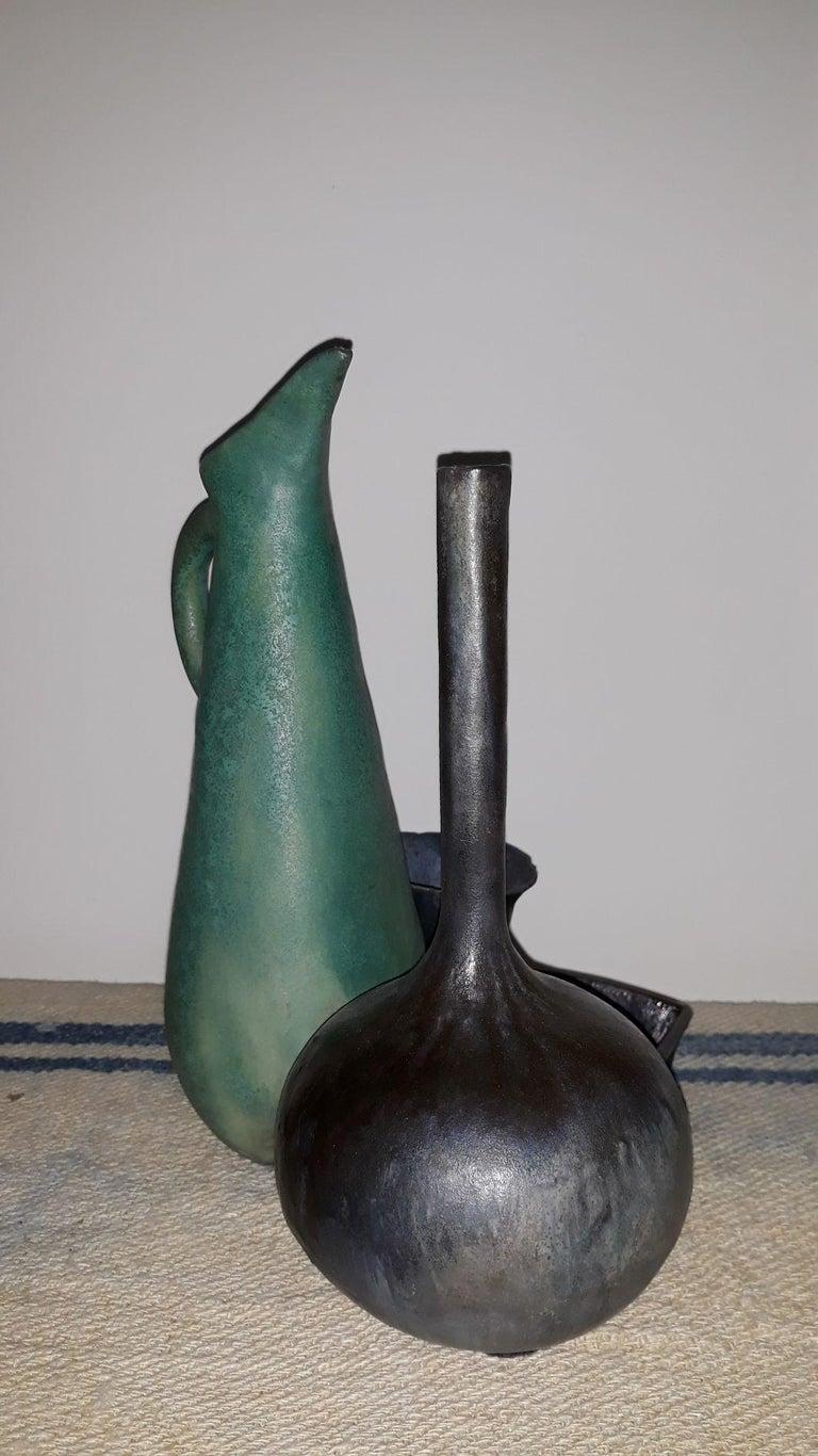 Mid-Century Modern Splendid Natura Morta Ceramic by Renato Bassoli  Signed, Milano, 1960s For Sale