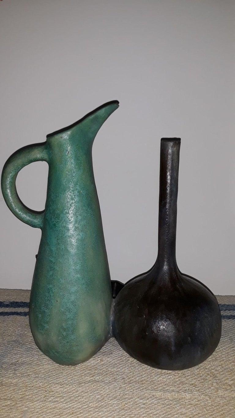 Italian Splendid Natura Morta Ceramic by Renato Bassoli  Signed, Milano, 1960s For Sale