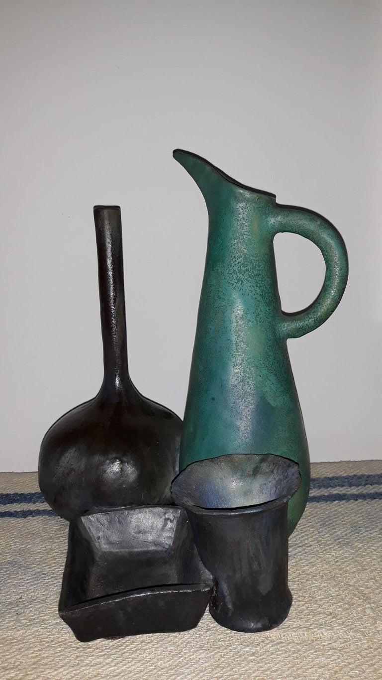 Mid-20th Century Splendid Natura Morta Ceramic by Renato Bassoli  Signed, Milano, 1960s For Sale