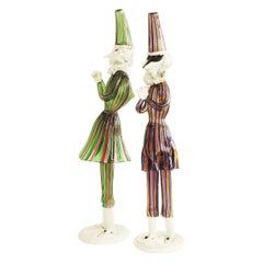 Splendid Pair of Murano Figurines, Italy 1950s