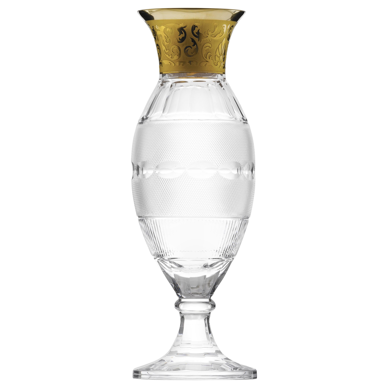 Splendid Vase Decorated with 24-Karat Gold
