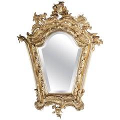 Splendid Wall Mirror Gold Gilded Rococo Napoleon III from 1890
