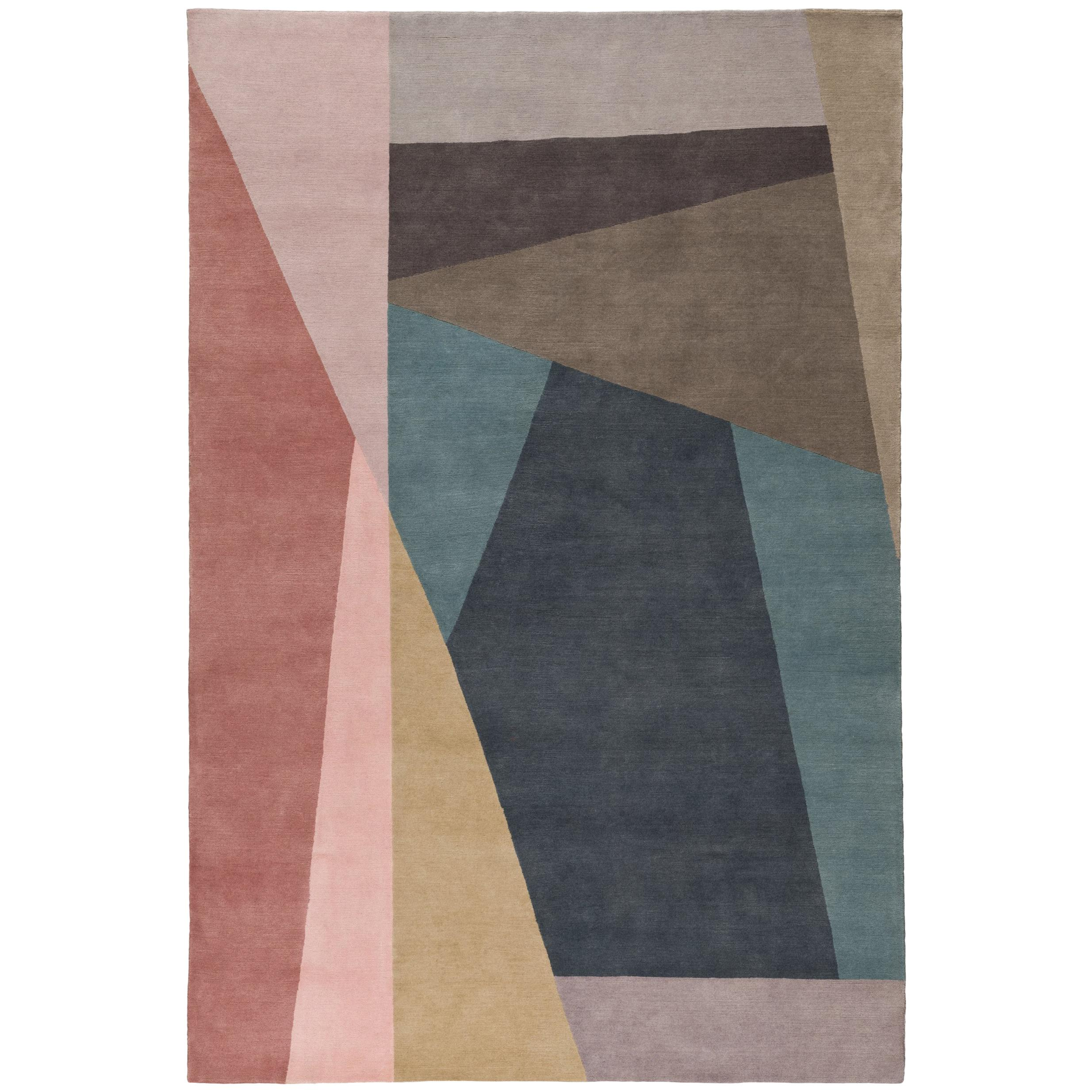 Split Bright Hand-Knotted 10x8 Rug in Wool by Paul Smith