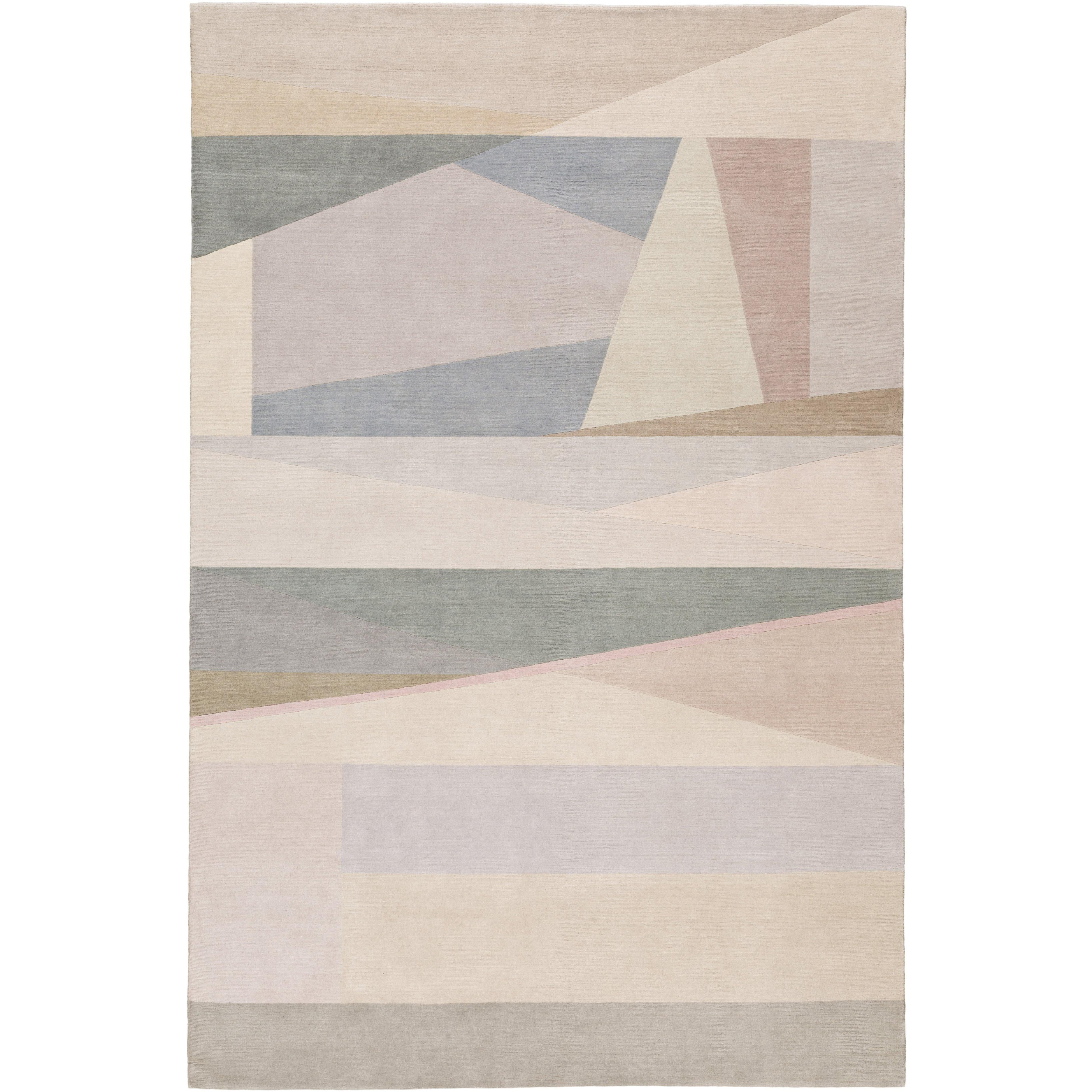 Split Light Hand-Knotted 10x8 Rug in Wool by Paul Smith