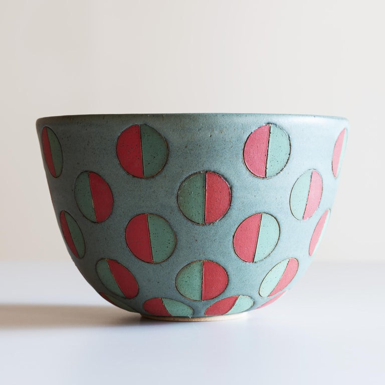 Modern Split Polka Dot Bowl by Matthew Ward, New Mexico 2019 For Sale