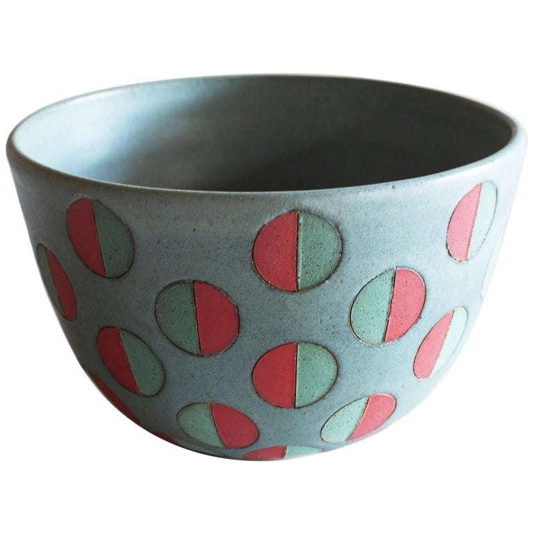 Split Polka Dot Bowl by Matthew Ward, New Mexico 2019 For Sale