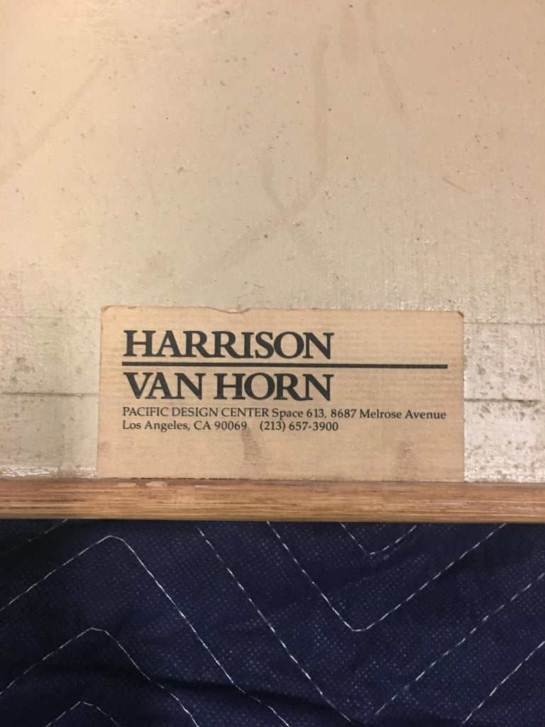 Late 20th Century Split Reed and Brass Side Table by Harrison-Van Horn For Sale