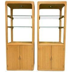 Split Reed Rattan Bookcases