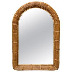 Split Reed Rattan Wall Mirror