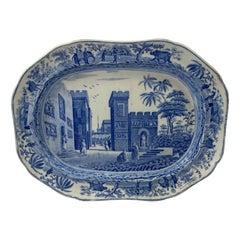 Spode 'Caramanian' Meat Plate, 'Castle of Boudron', c. 1815