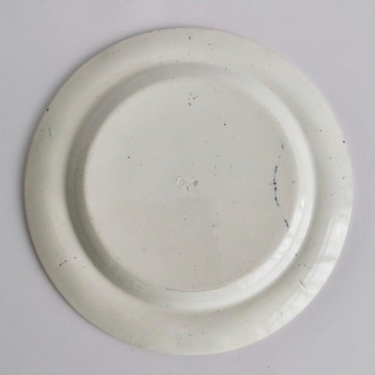 Spode Creamware Plate, Brown Tumbledown Dick Patt. 3716, Regency ca 1824 4