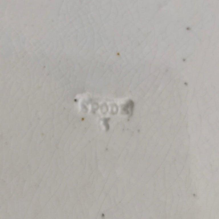 Spode Creamware Plate, Brown Tumbledown Dick Patt. 3716, Regency ca 1824 5