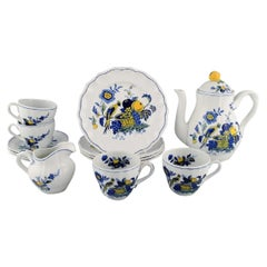 Spode, England, Blue Bird Coffee Service in Hand-Painted Porcelain for 4 People