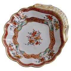 Spode Felspar Porcelain Shell Dish, Chinoiserie Famille Rose Fishermen