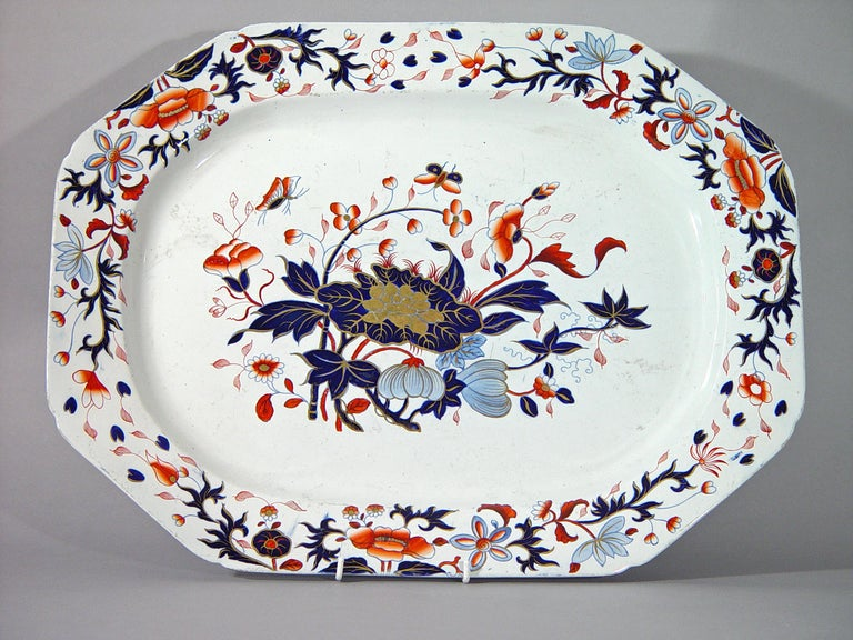 19th Century Spode New Stone China Dinner Service Eighty Four Pieces, Pattern #3504 For Sale