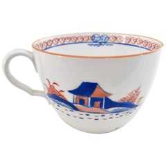 Spode Orphaned Porcelain Teacup, White with Dolls House Pattern, Georgian 1803