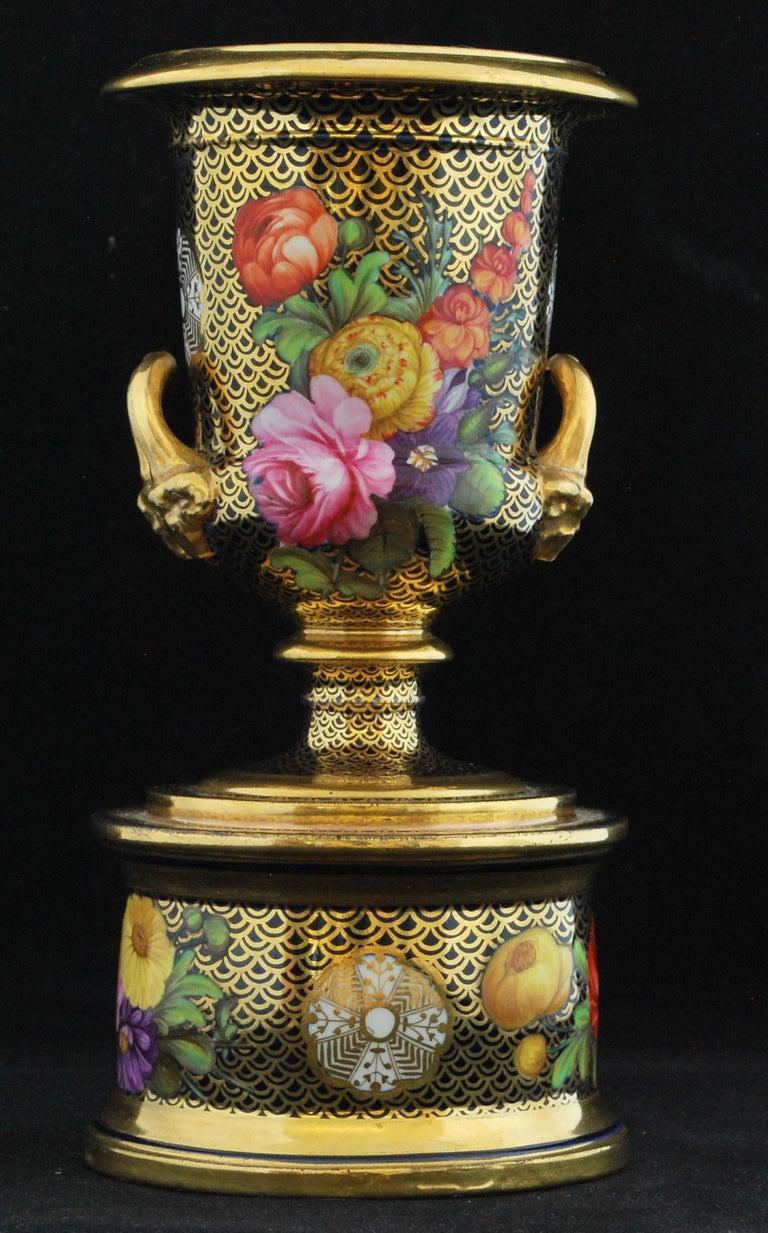 Regency Spode Pattern 1166 Campana Vase For Sale