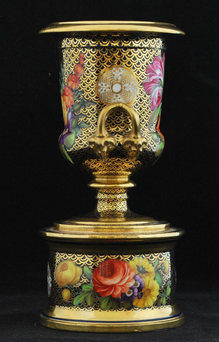 English Spode Pattern 1166 Campana Vase For Sale
