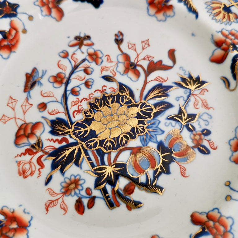 English Spode Plate, Bang Up Pattern Chinoiserie New Stone China, Regency 1822-1833 For Sale