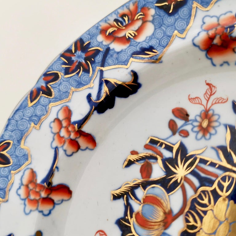 Hand-Painted Spode Plate, Bang Up Pattern Chinoiserie New Stone China, Regency 1822-1833 For Sale