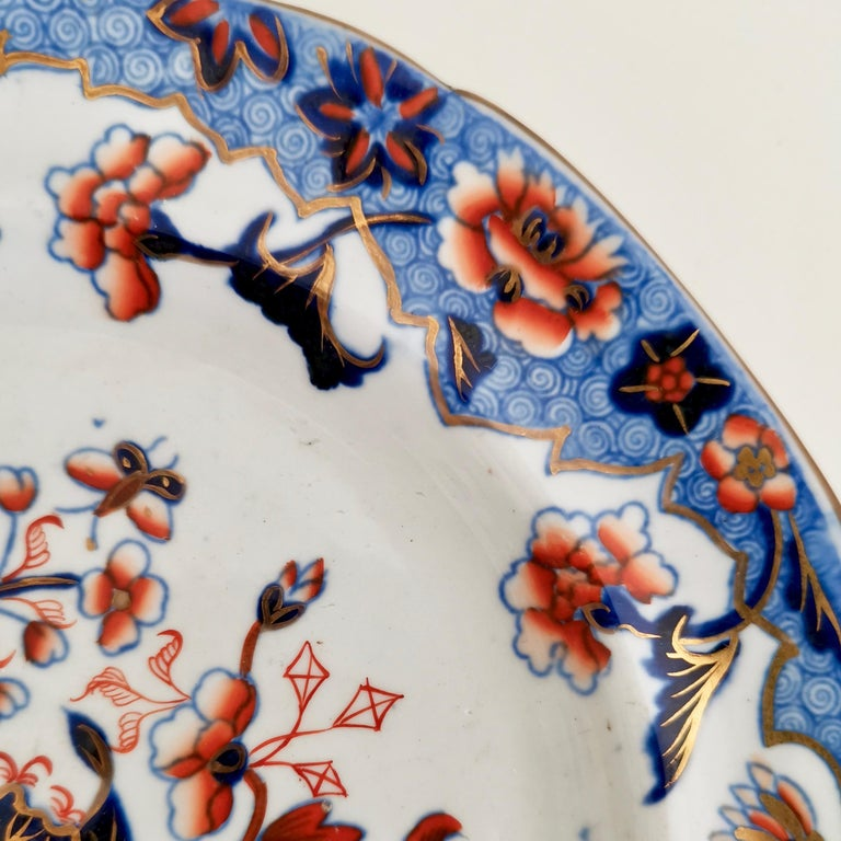 Spode Plate, Bang Up Pattern Chinoiserie New Stone China, Regency 1822-1833 In Good Condition For Sale In London, GB