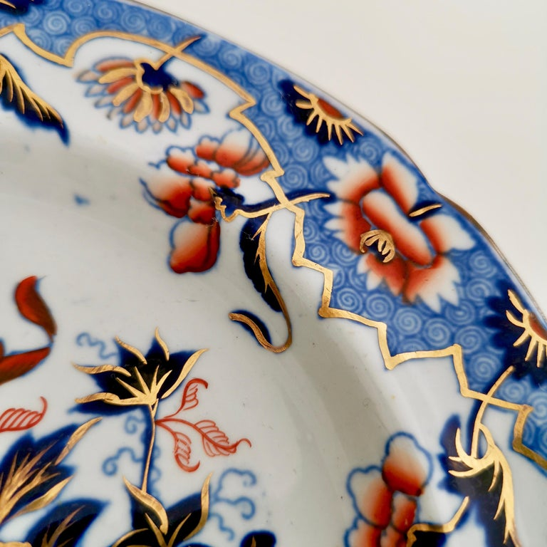 Early 19th Century Spode Plate, Bang Up Pattern Chinoiserie New Stone China, Regency 1822-1833 For Sale