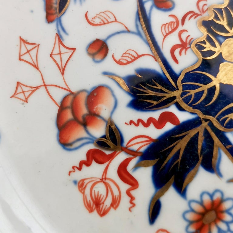 Porcelain Spode Plate, Bang Up Pattern Chinoiserie New Stone China, Regency 1822-1833 For Sale