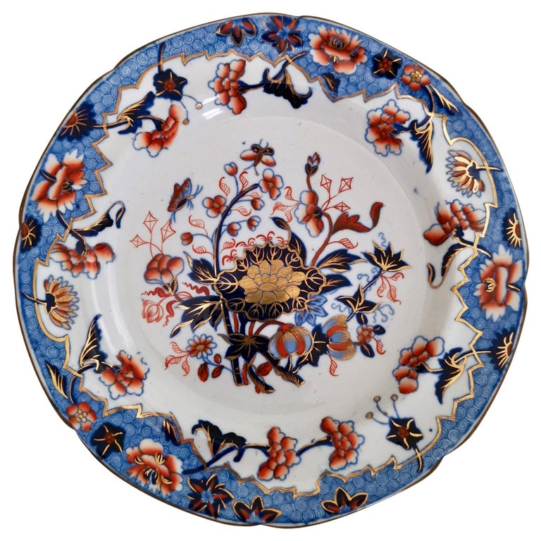 Spode Plate, Bang Up Pattern Chinoiserie New Stone China, Regency 1822-1833 For Sale