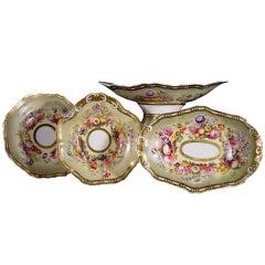 Spode Porcelain Fifteen-Piece Botanical Dessert Service