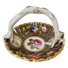 Spode Porcelain Miniature Basket, Pattern No. '1166', circa 1810