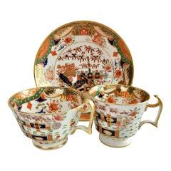 Spode Porcelain Teacup Trio, Imari Tobacco Leaf Patt. 967, Regency ca 1815 '1'