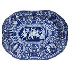 Spode Pottery Neo-Classical Greek Pattern Blue Deep Dish