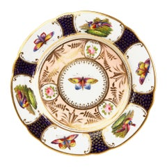 Spode Rare and Exceptional Hand Painted Cabinet Plate, circa 1805