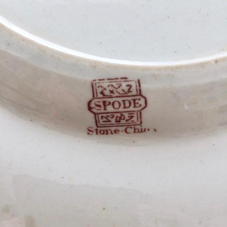 Spode Stone China Plate, Pink Japan Pattern No. 3144, Regency 1812-1833 For Sale 3