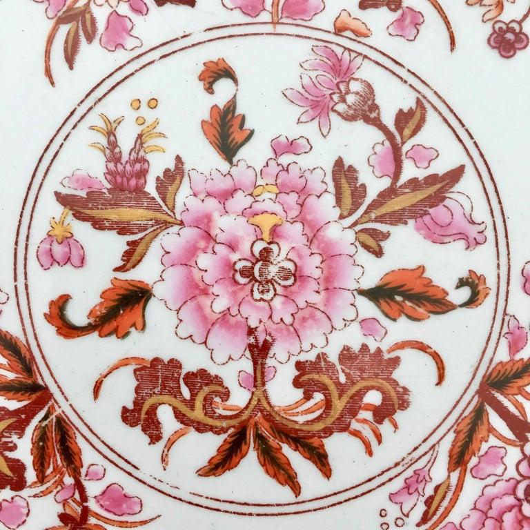 Spode Stone China Plate, Pink Japan Pattern No. 3144, Regency 1812-1833 For Sale 1