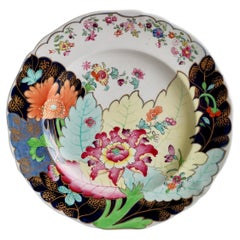 Spode Stone China Plate, Polychrome Tobacco Leaf Pattern, 1805-1813