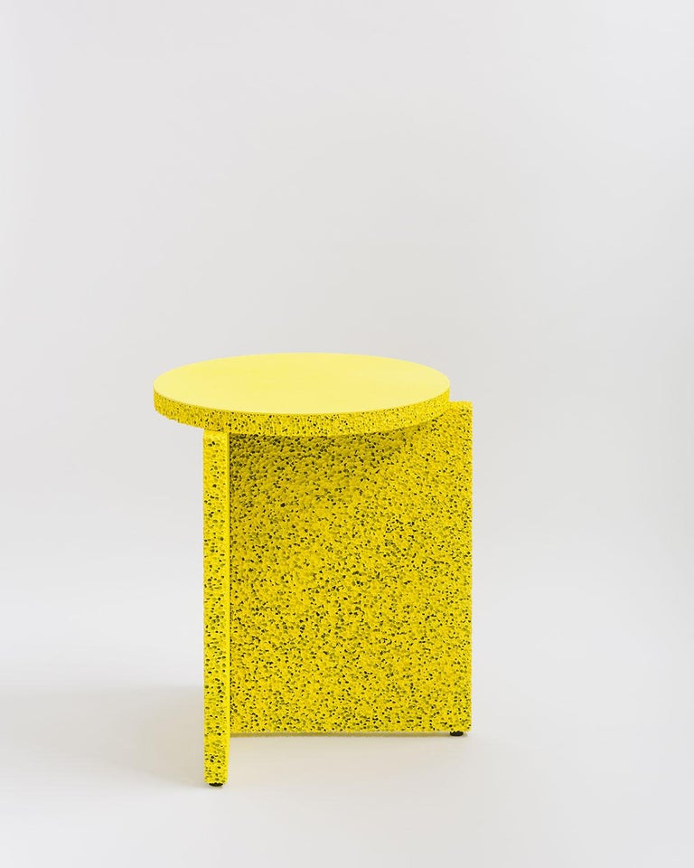Minimalist Sponge Occasional Table in Natural Tan For Sale