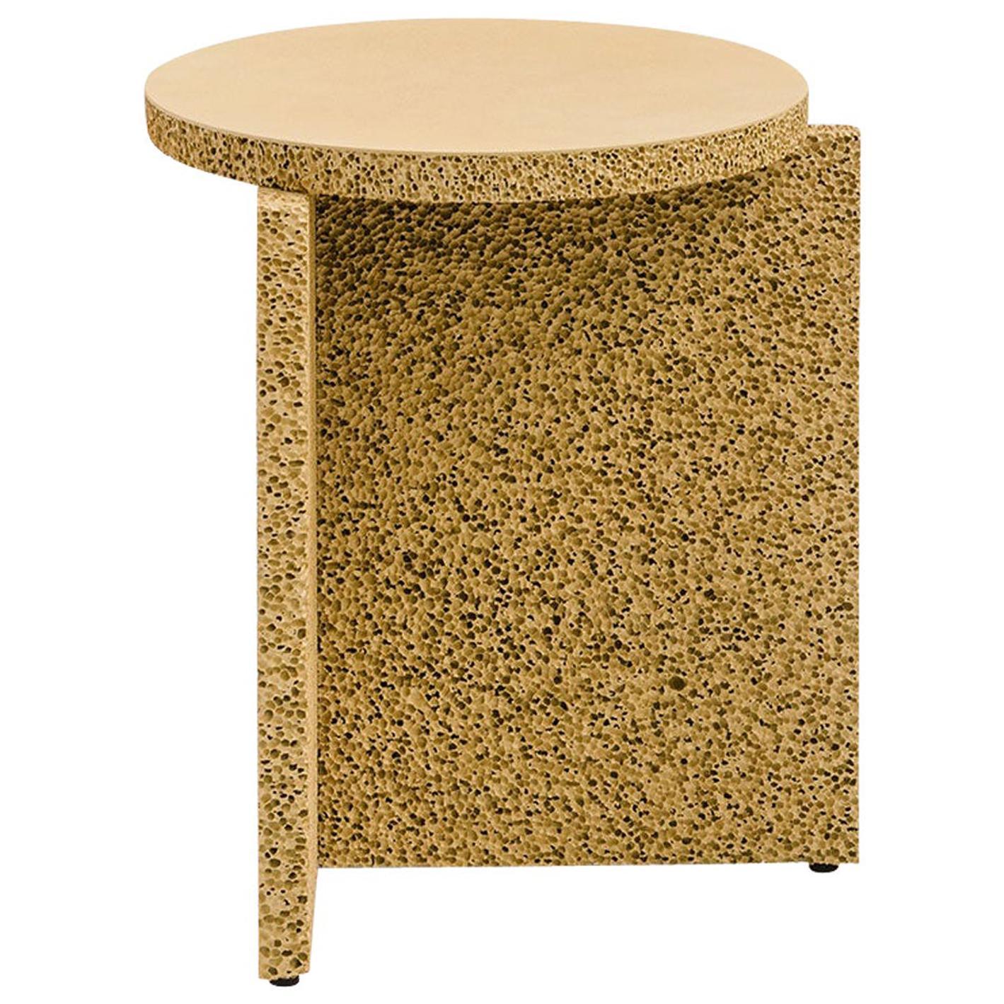 Sponge Table, Calen Knauf, Occasional Side, Tan, Painted, Foam Texture Aluminum