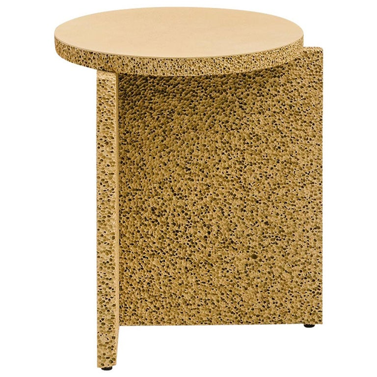 Sponge Occasional Table in Natural Tan For Sale