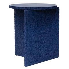 Sponge Table, Calen Knauf, Occasional Side, Navy Painted, Foam Texture Aluminum
